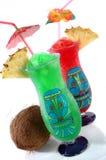 Twee Tropische Dranken Tiki Stock Afbeelding