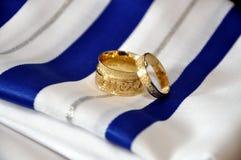 Twee trouwringen Royalty-vrije Stock Foto