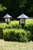 Twee tuinlichten stock afbeeldingen