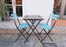Twee turkooise stoelen Royalty-vrije Stock Afbeeldingen