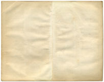 Twee uitstekende pagina's van een oud boek. Royalty-vrije Stock Afbeeldingen