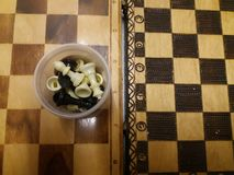 Twee uitstekende schaakraad Stock Foto's