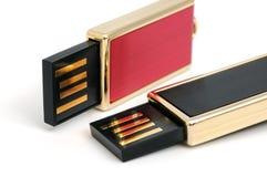 Twee USB flitsaandrijving Royalty-vrije Stock Afbeelding
