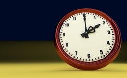 Twee uur als achtergrond grote van het klok spoedhorloge gele 3D illustratie stock foto