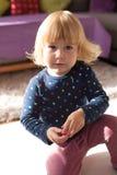Twee van het oude babyjaar portret Royalty-vrije Stock Foto