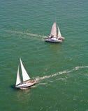 Twee varende boten Stock Afbeelding