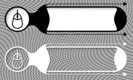 Twee vectorknopen Stock Foto