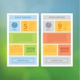 Twee vectoruimalplaatje. Schoon modern ontwerpmalplaatje met ruimte Royalty-vrije Stock Afbeelding