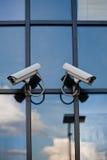 Twee veiligheidscamera's Royalty-vrije Stock Fotografie