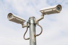 Twee veiligheidscamera's Royalty-vrije Stock Foto's
