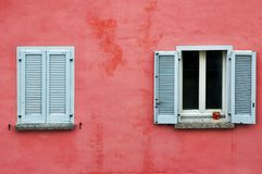 Twee vensters stock afbeelding