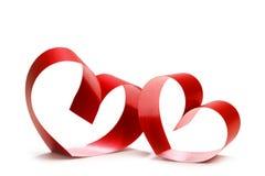 Twee verbonden harten stock fotografie