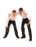 Twee vermoeide zakenlieden Royalty-vrije Stock Foto's