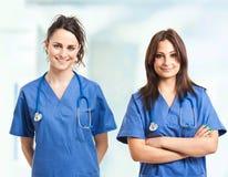 Twee verpleegsters Royalty-vrije Stock Foto