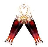 Twee verse cokesplons in glasfabricage een toost Royalty-vrije Stock Afbeelding