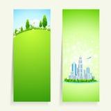 Twee Verticale Banners met Aard Stock Afbeeldingen