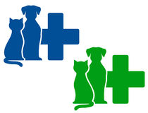 Twee veterinaire pictogrammen stock illustratie