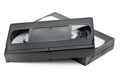 Twee video de filmcassettes van het huissysteem Stock Foto's