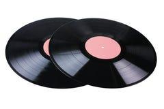 Twee vinylschijven Stock Afbeelding