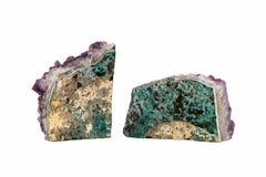 Twee Violetkleurige Geoden Stock Afbeelding