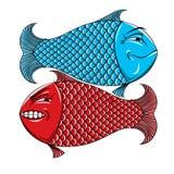 Twee vissen Royalty-vrije Stock Foto