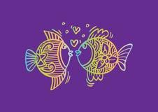 Twee vissen in liefde Stock Afbeeldingen