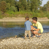 Twee vissers Stock Afbeelding