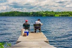 Twee vissers Royalty-vrije Stock Foto's