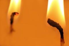 Twee vlammen royalty-vrije stock fotografie