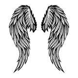 Twee vleugels van engel stock illustratie