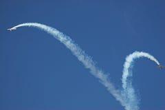 Twee vliegtuigen royalty-vrije stock afbeelding