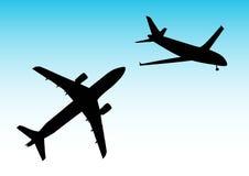 Twee vliegtuigen Royalty-vrije Stock Fotografie