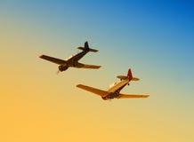 Twee vliegtuigen in oorlogstijd Stock Fotografie