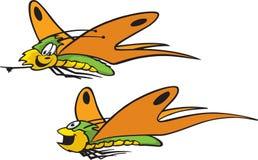 Twee Vlinders Stock Foto