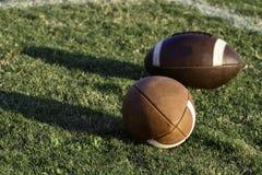 Twee voetballen Stock Foto's