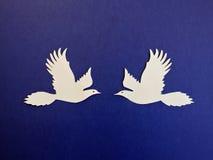 Twee Vogels Document knipsel Stock Foto