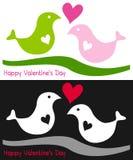 Twee Vogels in Liefde royalty-vrije illustratie