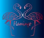 Twee vogels van een roze flamingo Royalty-vrije Stock Foto's