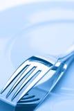 Twee vorken op een plaat Stock Fotografie