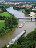 Twee vrachtschepen Stock Foto