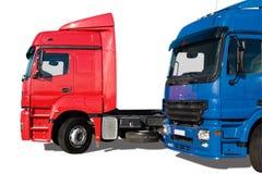 Twee vrachtwagens Stock Afbeelding