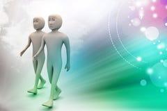 Twee vrienden lopen samen Stock Fotografie