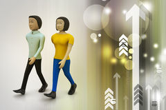 Twee vrienden lopen samen Royalty-vrije Stock Afbeelding