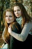 Twee vriendschapsmeisjes Royalty-vrije Stock Fotografie