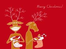 Twee vrolijke herten stock illustratie
