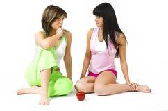 Twee vrolijke meisjes Stock Fotografie