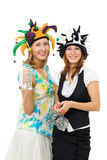 Twee vrouwen bij partij Stock Afbeelding