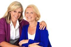 Twee vrouwen het koesteren Stock Foto