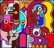 Twee Vrouwen met het Gebrandschilderde glas van de Wijnfles Stock Afbeelding
