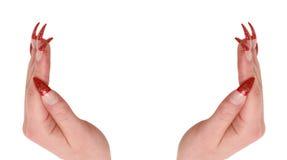 Twee vrouwenhanden Stock Foto's
